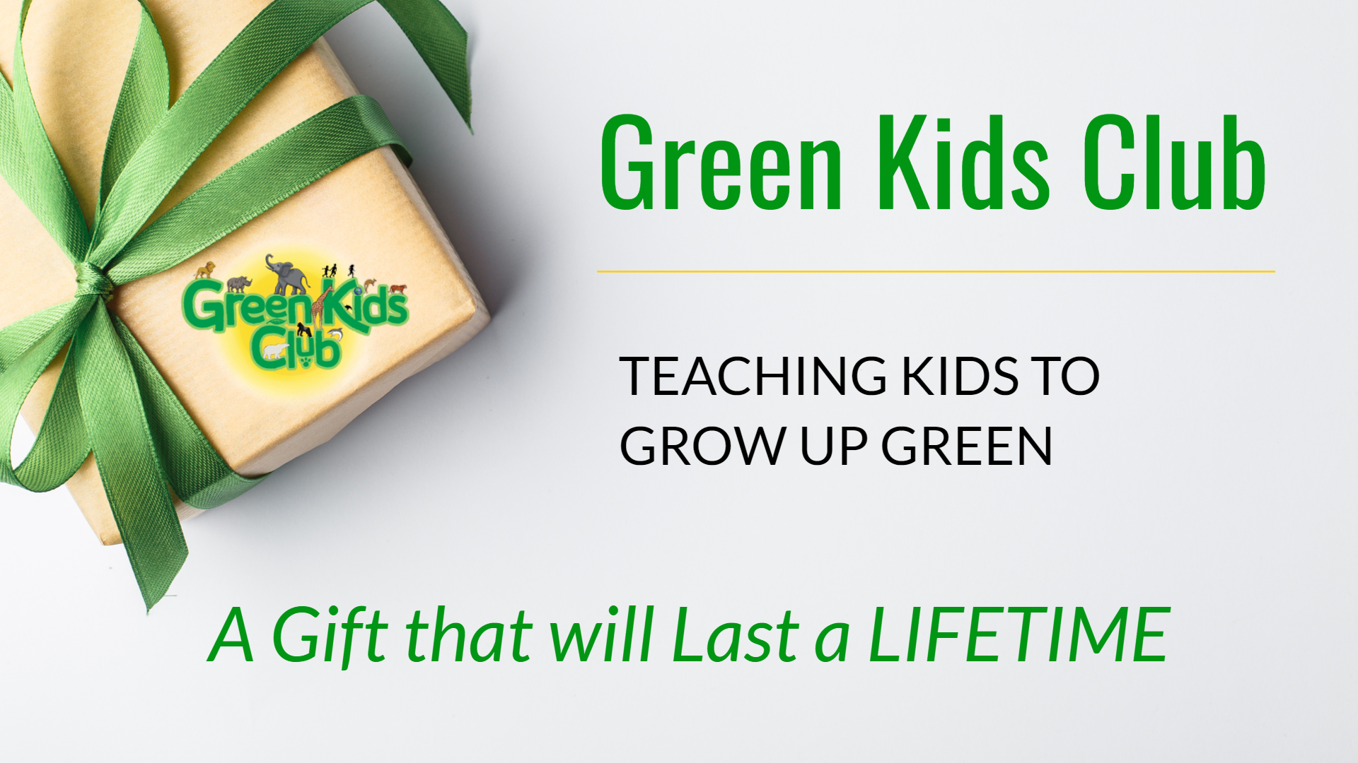 Great Gift: Green Kids Club Teaching Kids to Grow Up Green
